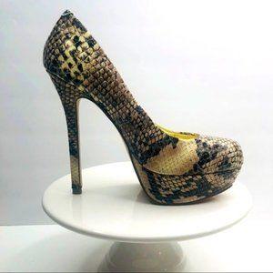 Bakers Pump Heels Platform Snake Print 7